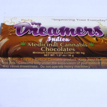 Day Dreamers Indica Chocolate. 180 mg THC